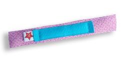 Beugelbandje BraceFace - bloem roze - bandje blauw