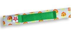 Beugelbandje BraceFace bloem wit - bandje groen