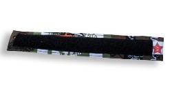 Beugelbandje print groen & zwart klittenband