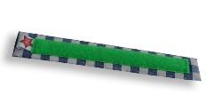 Beugelbandje ruit blauw-groen